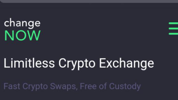 ChangeNow the Limit less crypto exchange