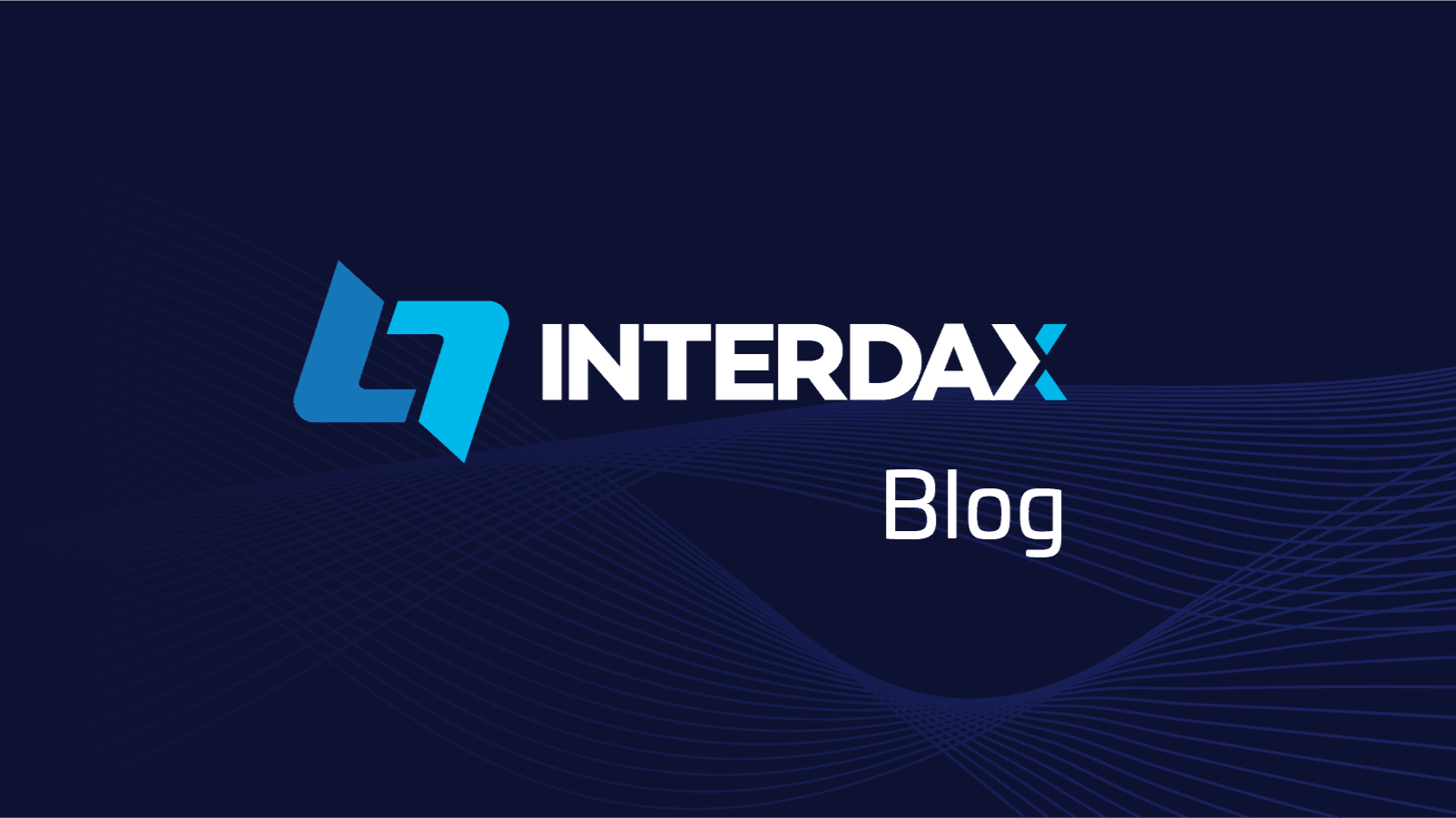 Interdax logo with dark blue background