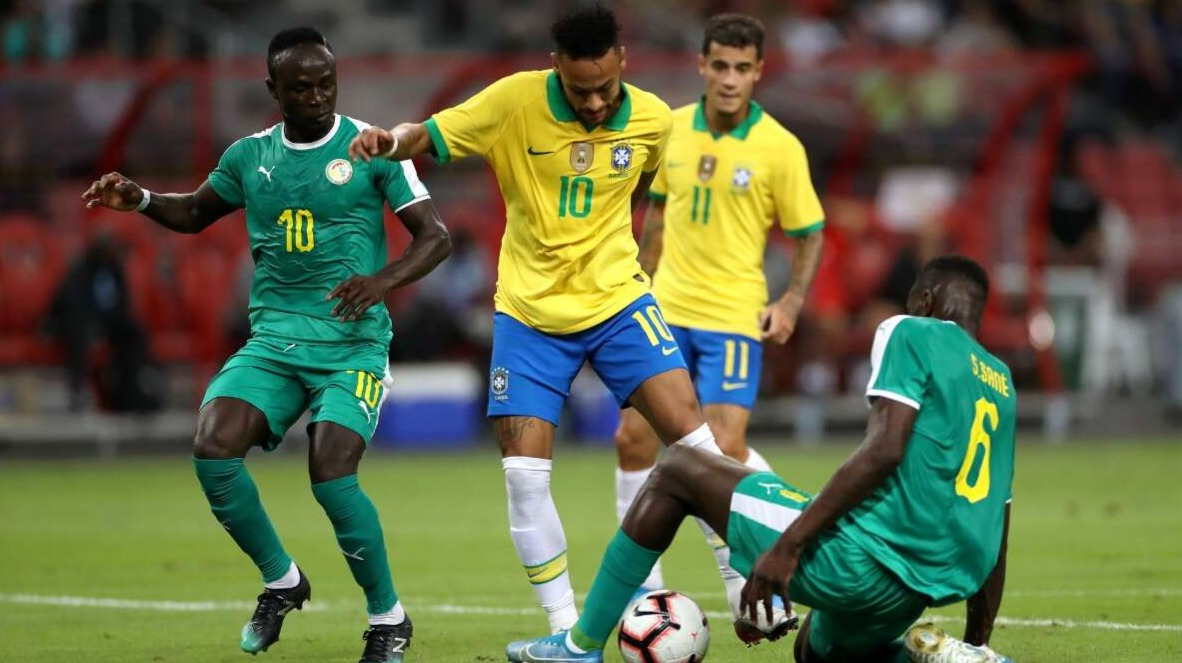 Brazil-1 vs 1- Nigeria match draw.