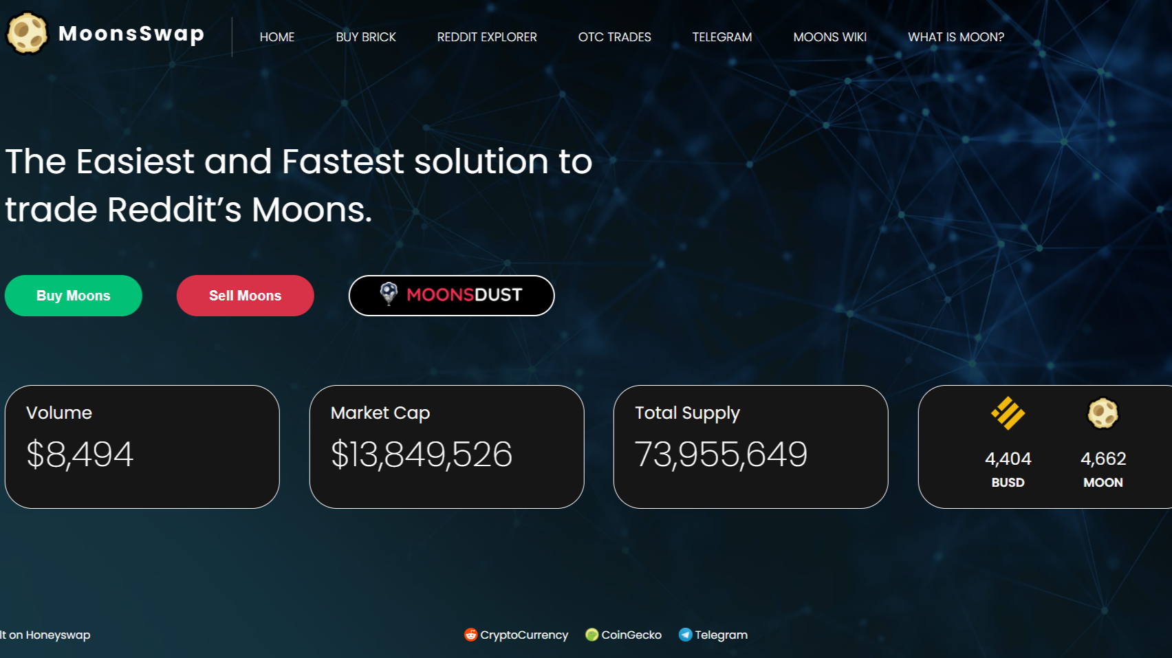 MoonsSwap, the leading option to trade your Reddit's Moons