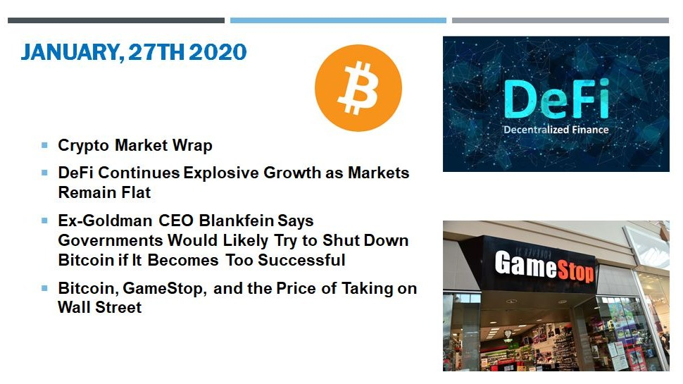 🗞 Daily Crypto News, January, 27th💰