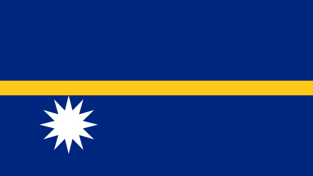 Flag of the Pacific Island nation of Nauru