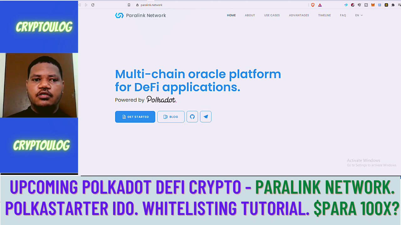 Upcoming Polkadot Crypto - Paralink Network. Polkastarter IDO. Whitelisting Tutorial. $PARA 100X?