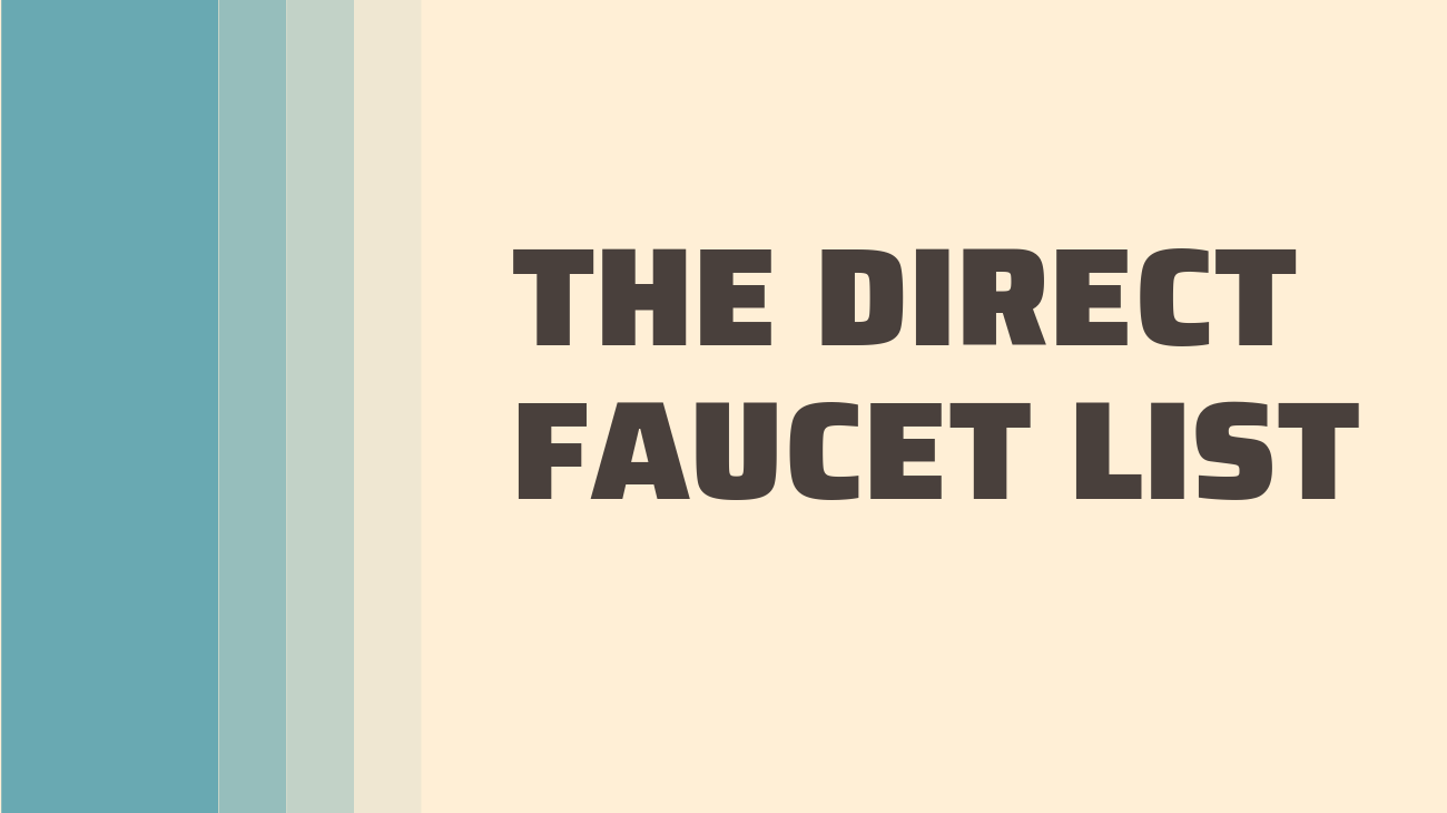 My list of Faucets with direct payments