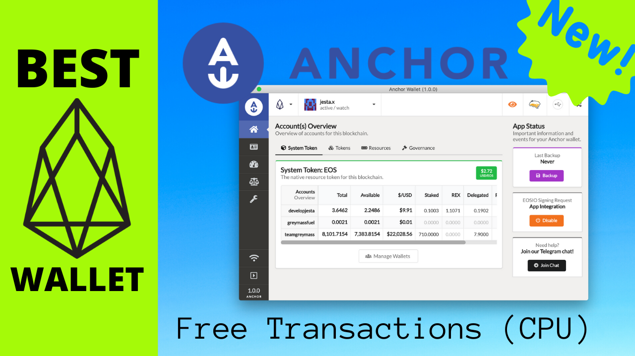 Anchor Wallet, The Best EOS Wallet Yet