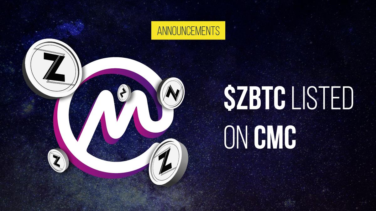 ZBTC listed on Coinmarketcap!