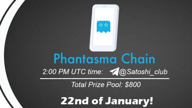 Phantasma chain x Satoshi CLUB AMA Session 22 Jan 2021