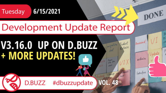 Weekly Development Updates for D.Buzz - Today : v3.16.0 up on D.Buzz