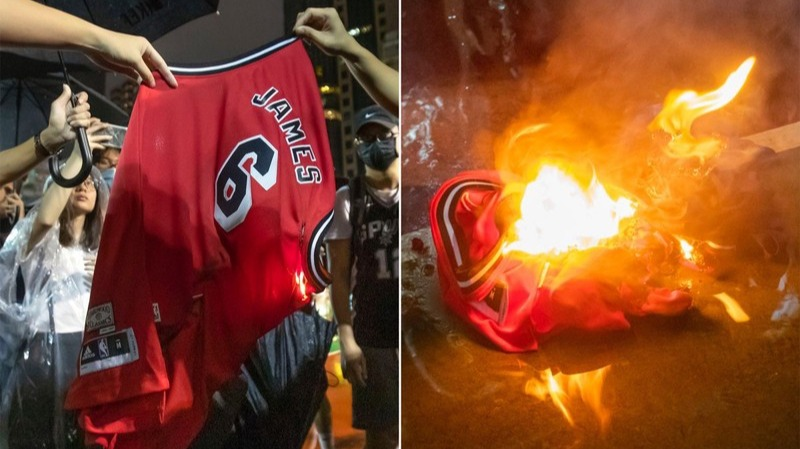 🔥 LeBron's Jerseys Burned in Hong Kong