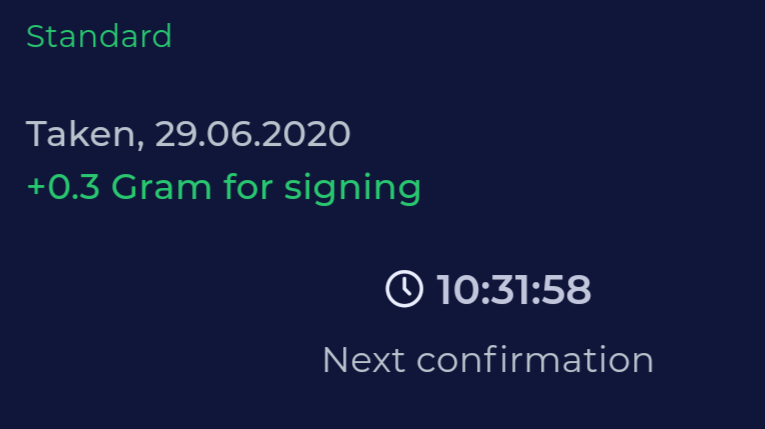 Smart Contract Signing GramFree