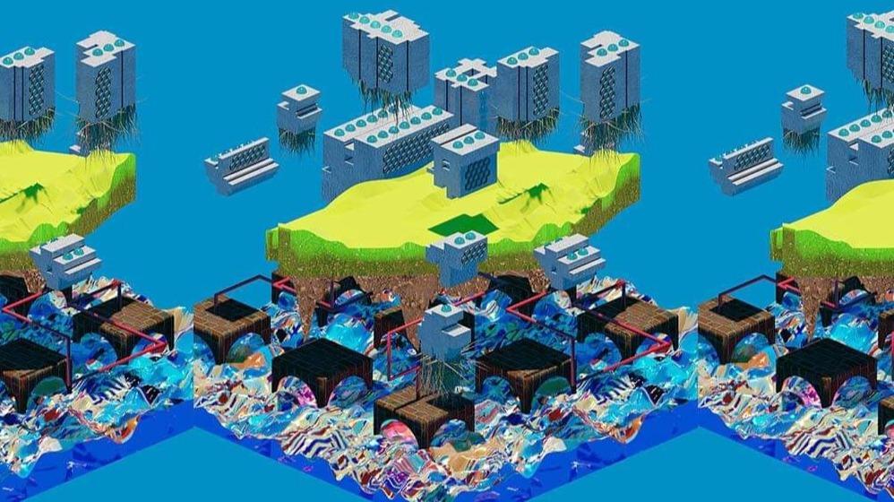 Futuristic City complements of CrossLucid