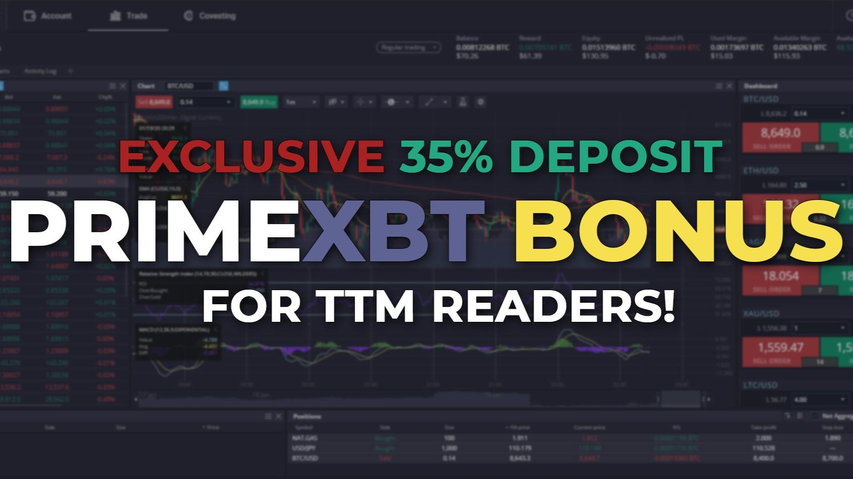 PrimeXBT Bitcoin bonus.