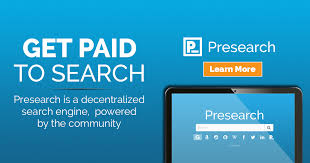 Use Presearch to Earn PRE tokens