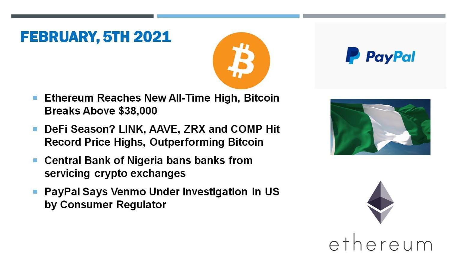 🗞 Daily Crypto News, February, 5th💰