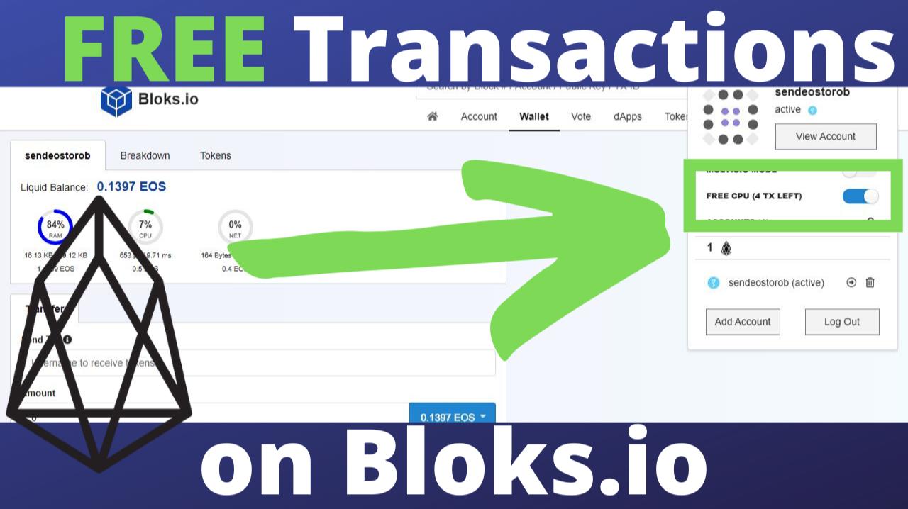 Free EOS Transactions Using Bloks