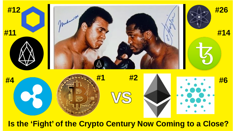BTC vs ETH Matchup old school top 3 new matchups poised for greater Mark Cap Share