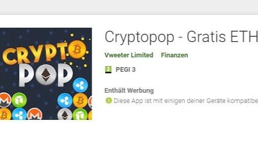 Cryptopop free ETH Coins