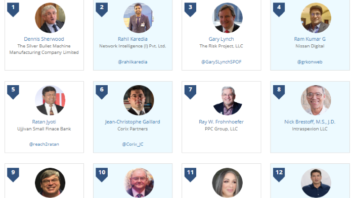 Thinkers360Top 50 Global Thought Leaders on Risk Management