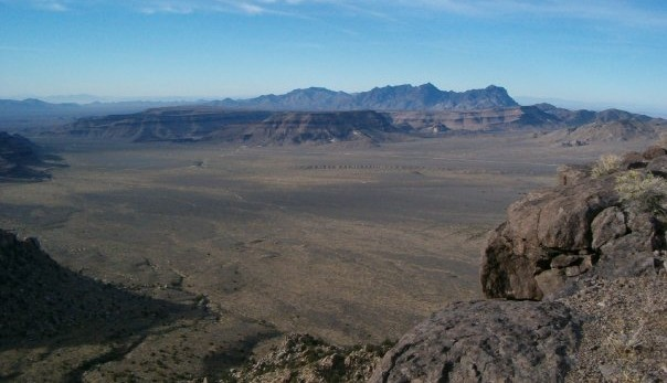 view from Table Top Mountain... East Mojave, CA.