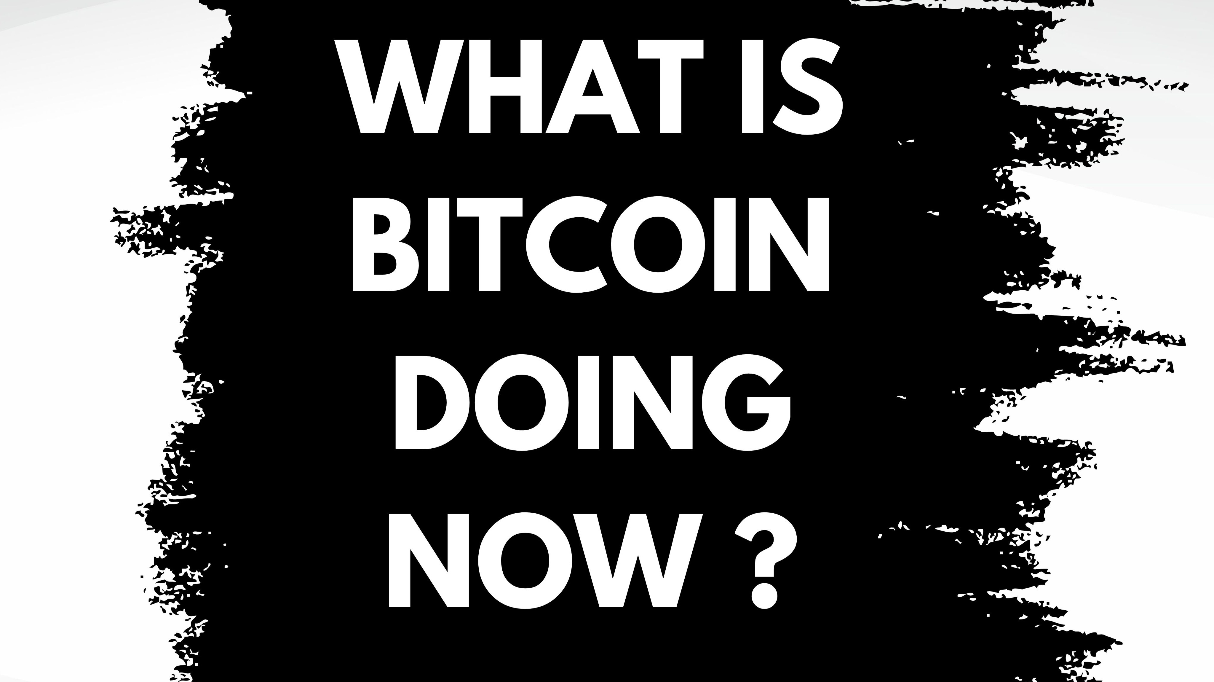 Bitcoin being naughty again ?