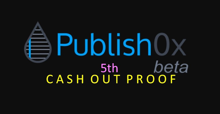 My 5th Cash Out Here On Publish0x: 7,873 HYDRO - Surpassing My 4th Highest Cash Out Amount