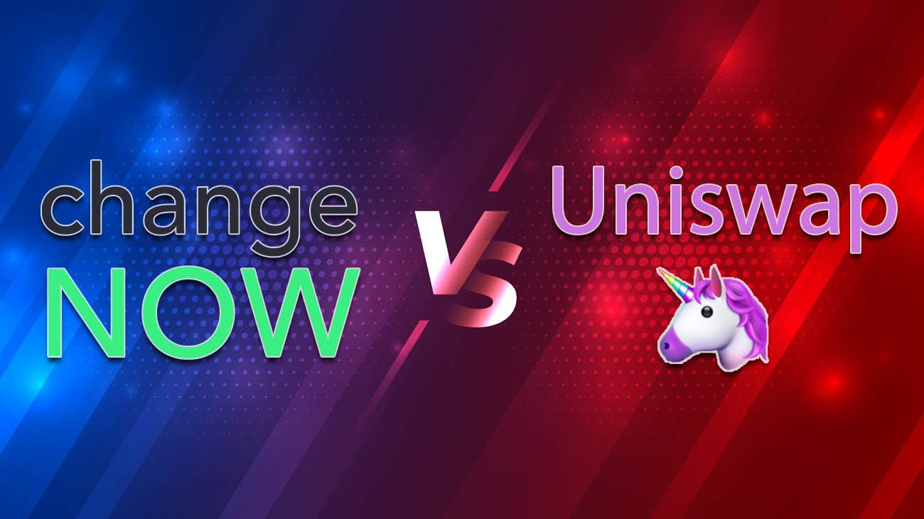 ChangeNOW vs Uniswap header