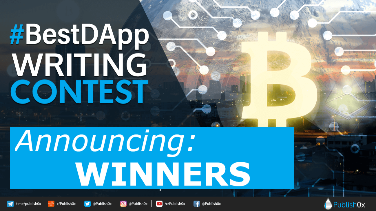 best dapp writing contest poster