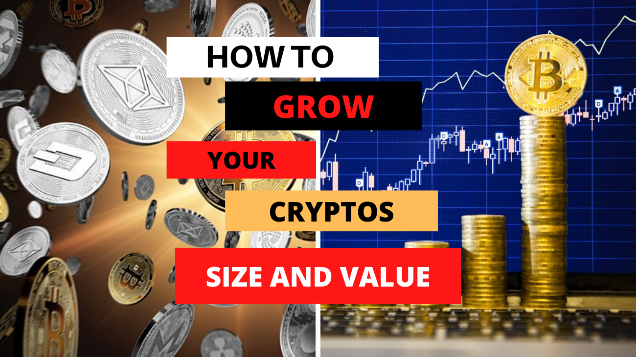 title of the post and images of cryptos