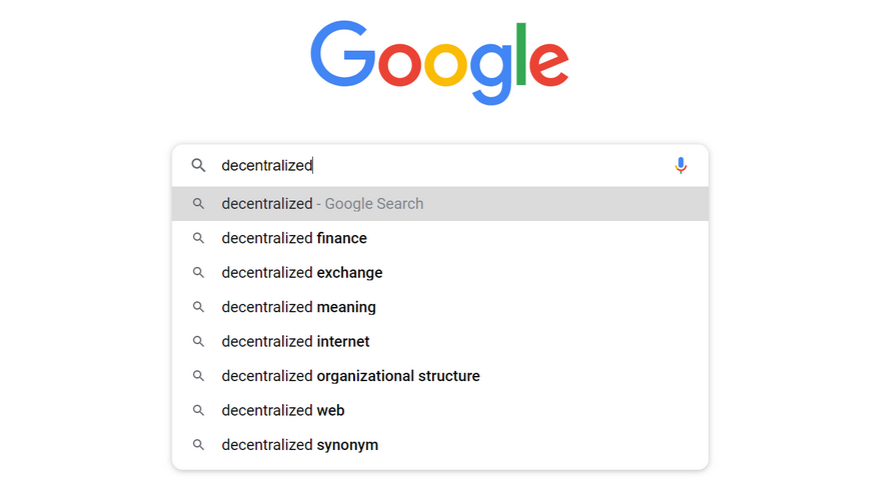 Google search, decentralized