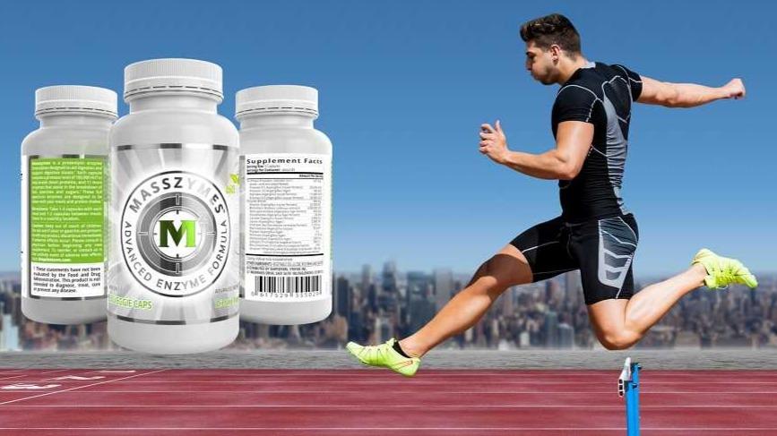 MassZymes 3.0 next to a runner