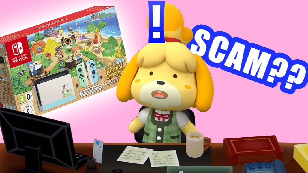 Isabelle is shocked about the scams with Animal Crossing Nintendo Switch game consoles