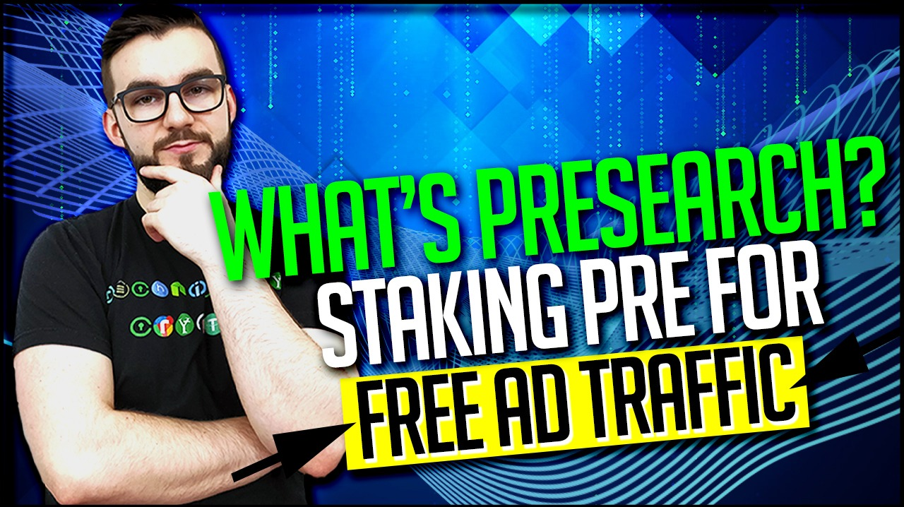 What's Presearch? Staking PRE For Free Ad Traffic