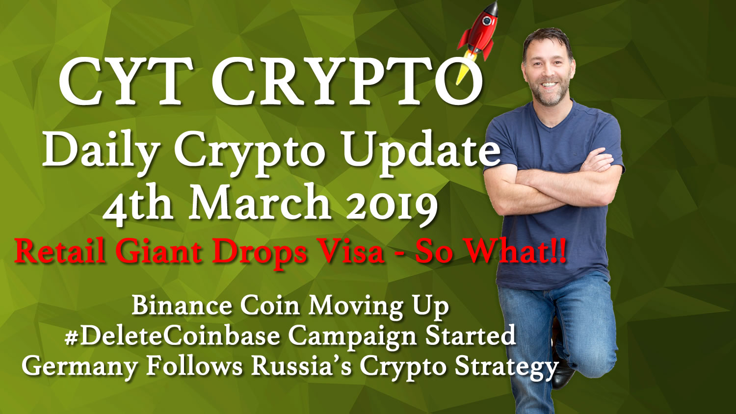 🔥 Retail Giant Ditches Visa🔥BNB Moving Up 🔥 #DeleteCoinbase Campaign 🔥Germany/Russia Crypto Strategy 🔥Free Crypto Anyone?