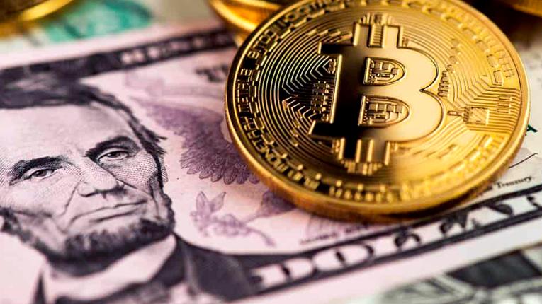 US $5 Bill w/ Bitcoin GFX