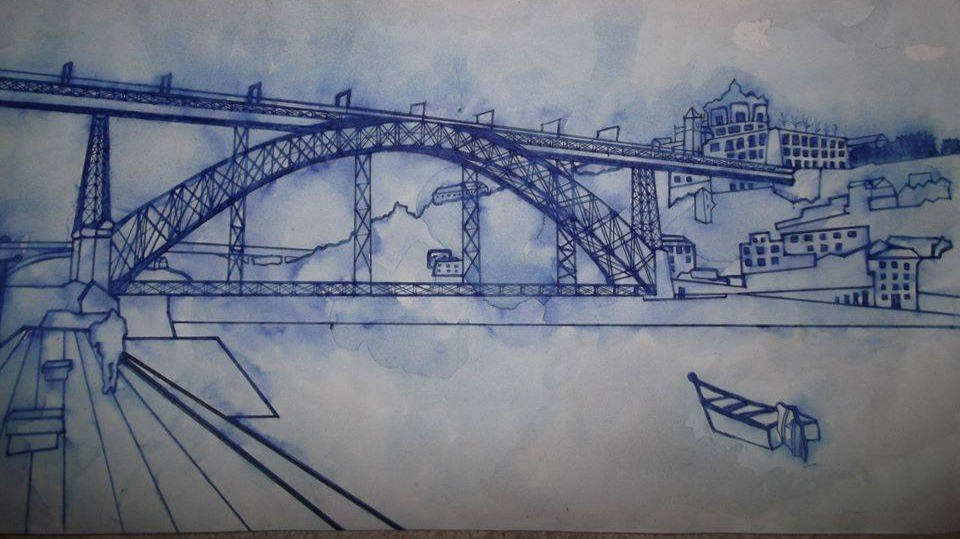 D. Luís (Porto) Bridge pen