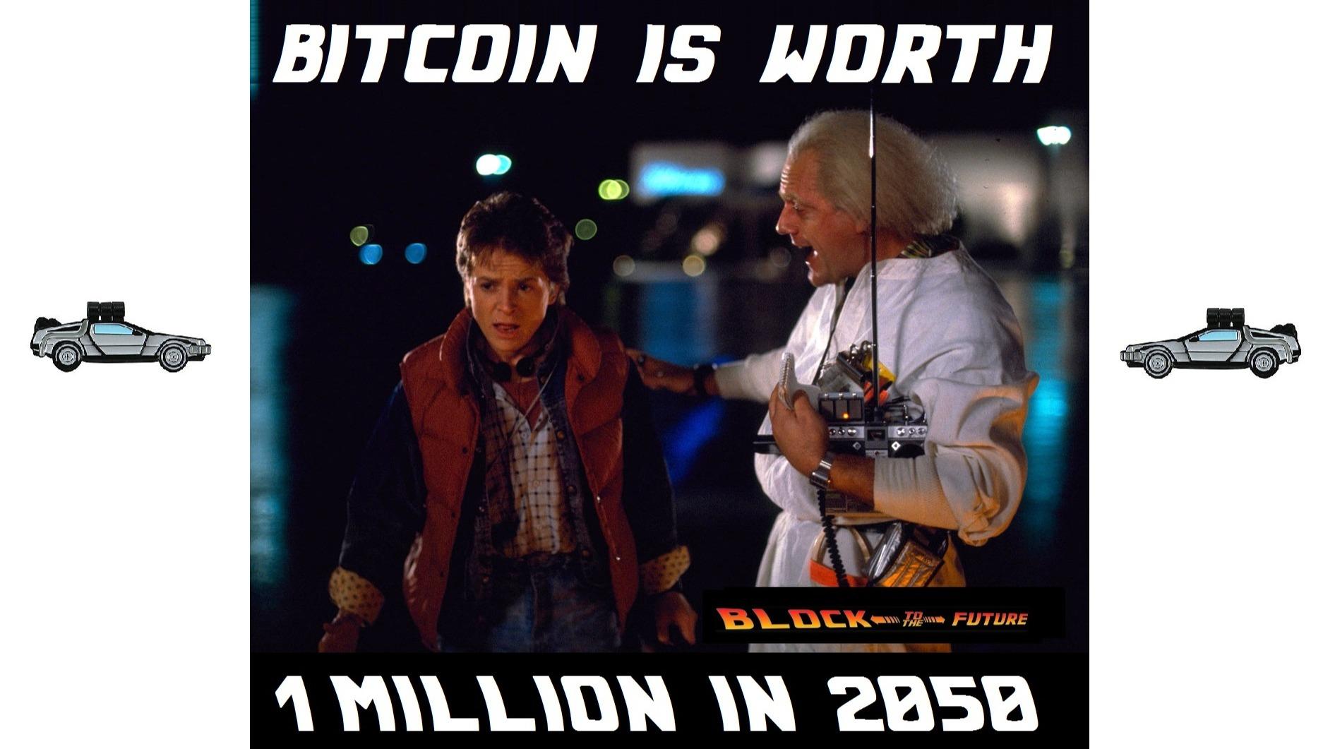 Bitcoin is worth 1 million in 2050