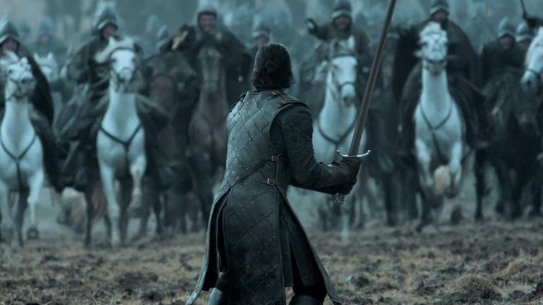 Hold the line!  Game of Thrones Battle of The Bastards, Jon Snow, Fearless