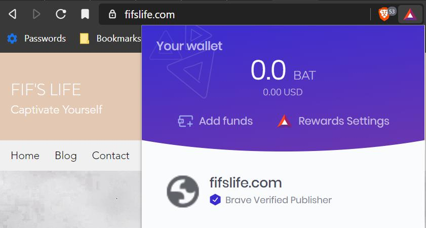 Introducing my missus to use Brave Browser and start earning rewards!