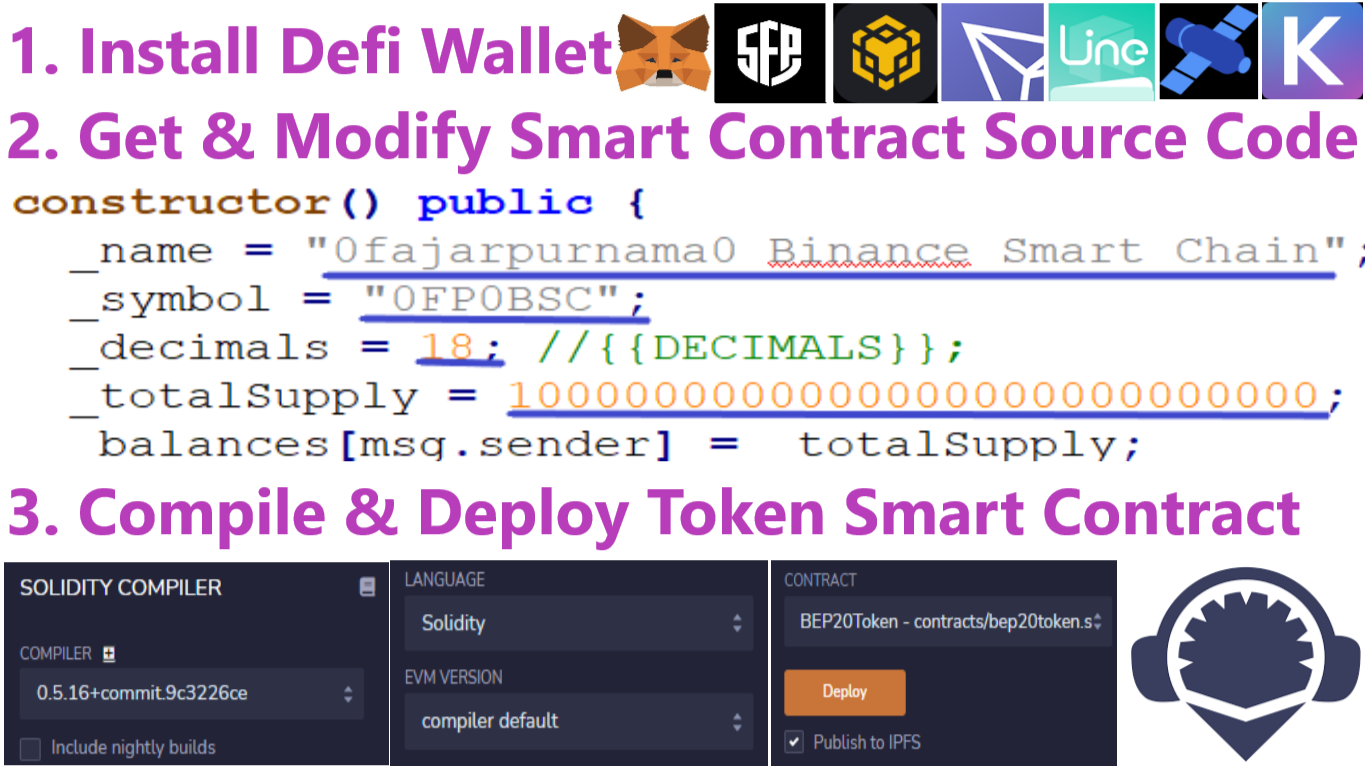 Create Cryptocurrency Token General Steps