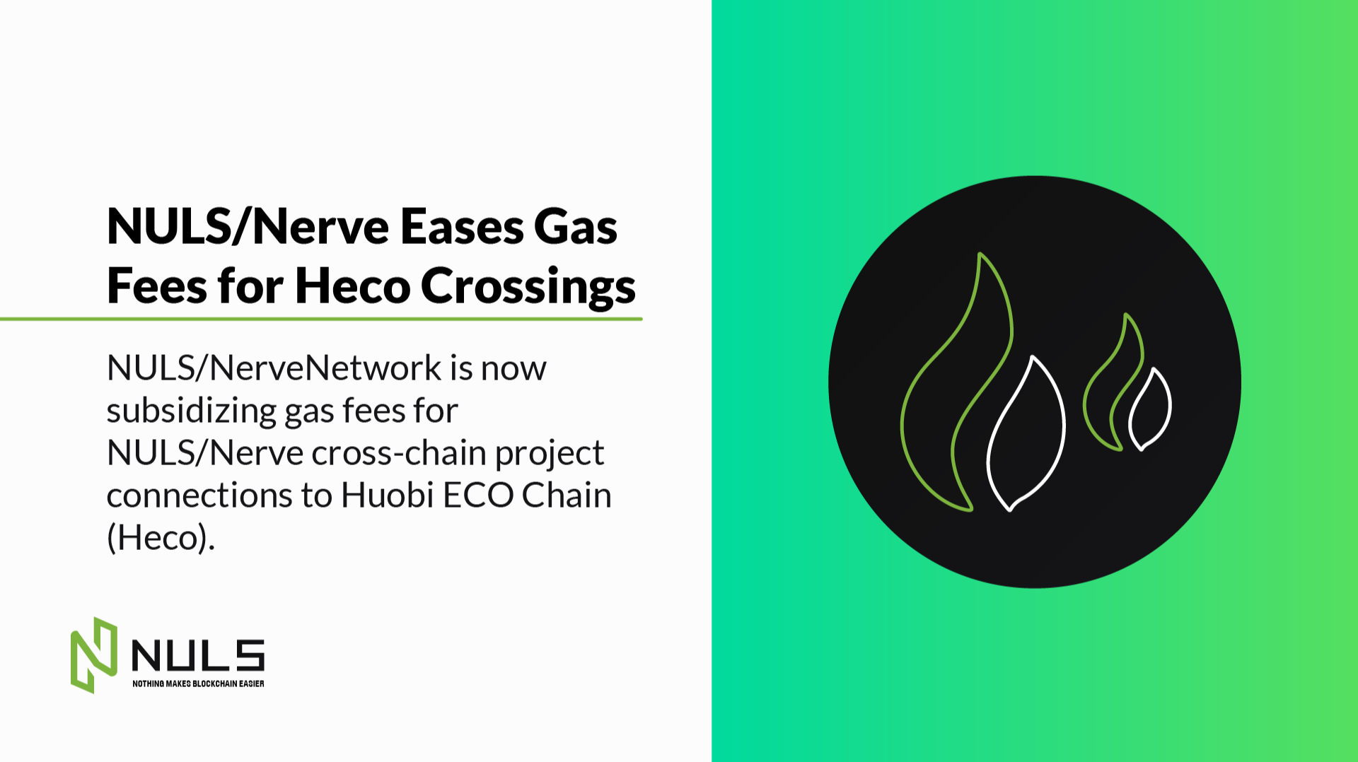 NULS/Nerve Eases Gas Fees for Heco Crossings