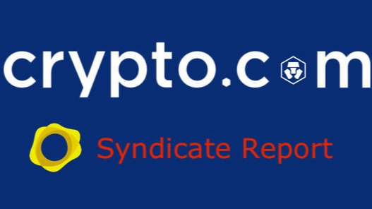 Crypto.com Syndicate Report with PAX Gold Logo