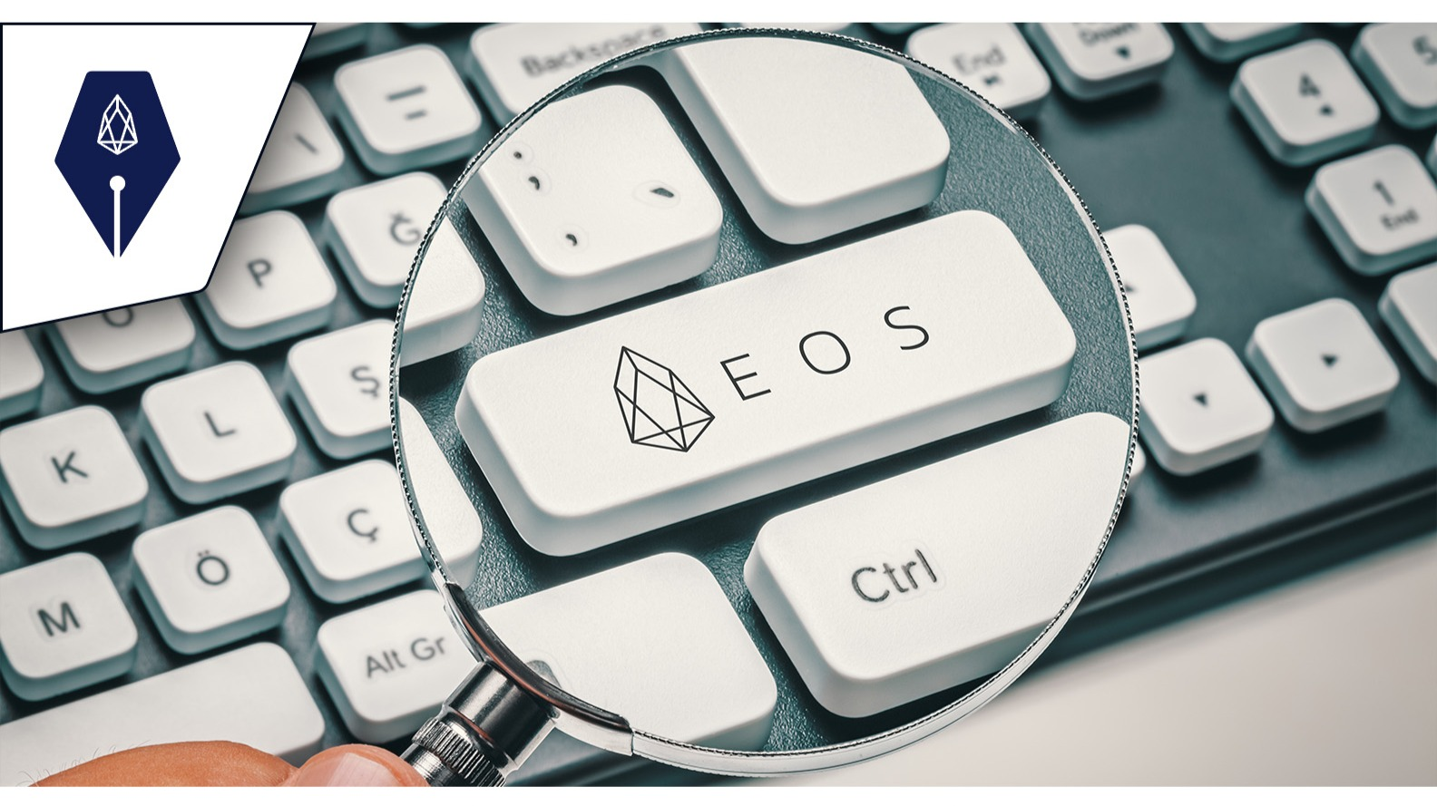 Adobe stock licensed image of an EOS GFX via Cryptowriter (EOSwriter) branding