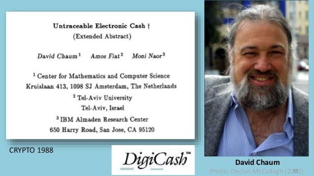David Chaum founder of DigiCash