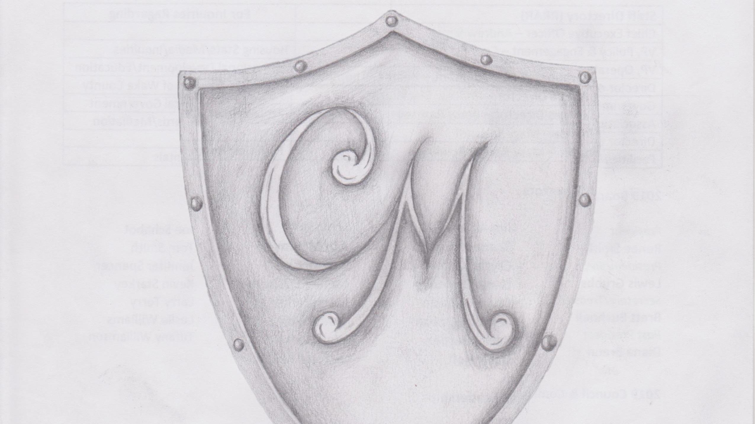 shield w/ initials