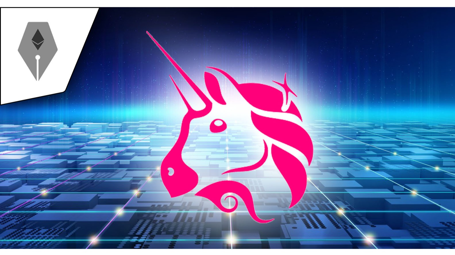 ETHWriter Branded Adobe Stock Image (Licensed) with Uniswap Logo PNG Overlay