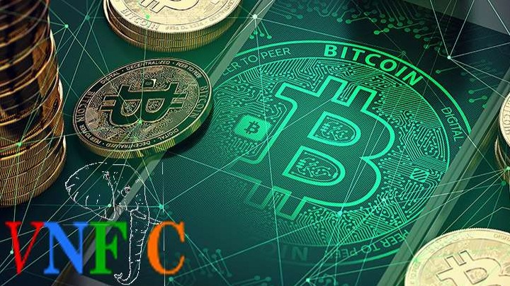 bitcoin green background  thumbnail
