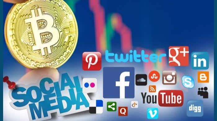 How does Bitcoin perform on social media?
