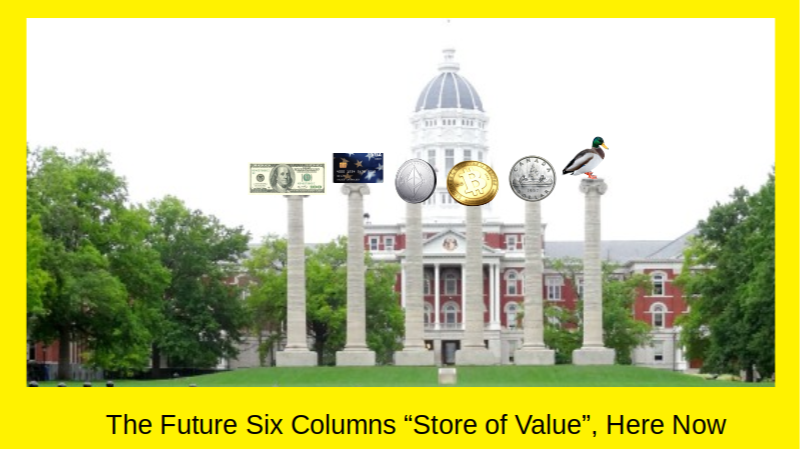 Future Six Columns Store of Value in CryptoRama Future are Here Now