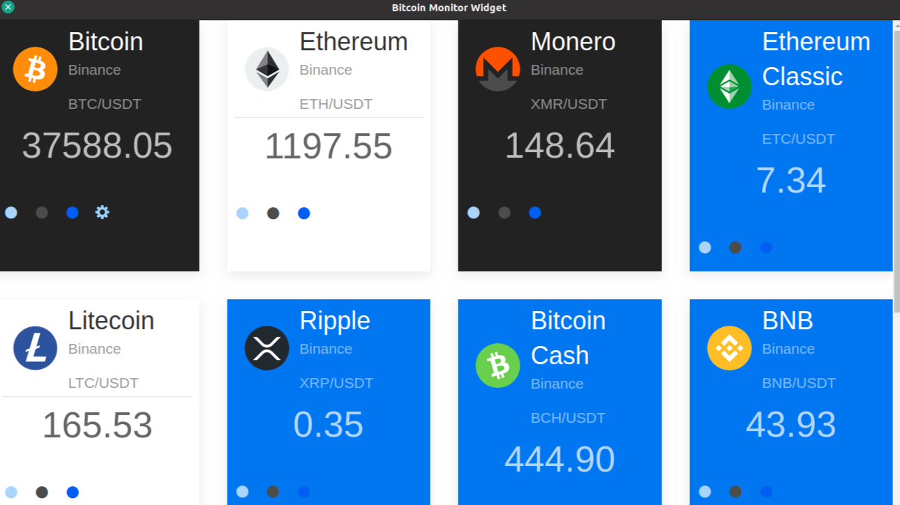 Cryptocurrency alerts