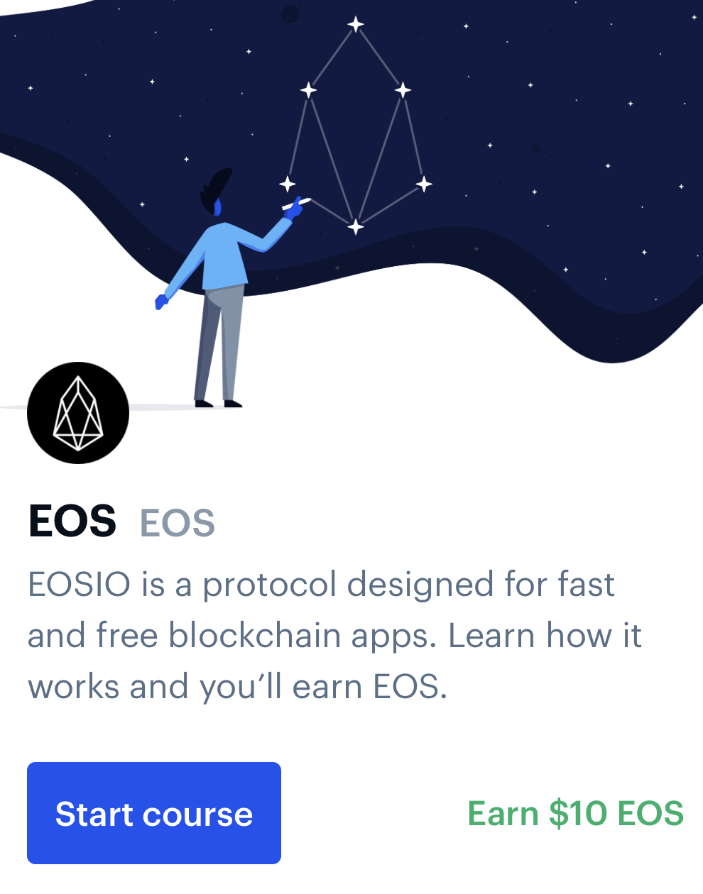 Earn EOS by learning with Coinbase